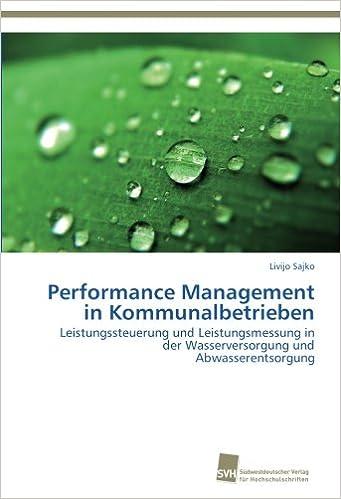 Performance Management in Kommunalbetrieben: Leistungssteuerung und Leistungsmessung in der Wasserversorgung und Abwasserentsorgung