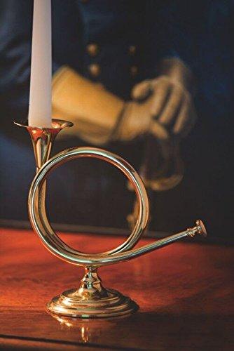 Jefferson Brass Company Fox Horn Candlestick