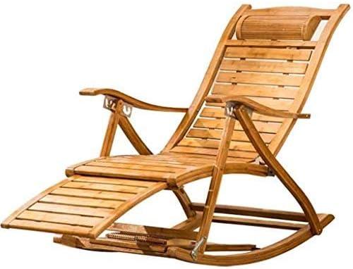 Chaise longue Sedia a Dondolo Pieghevole Poltrona Relax
