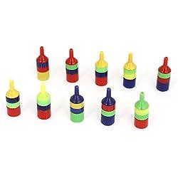 Uxcell 10pcs 3mm Air Tube Multicolor Striped Plastic Airstone Diffuser for Aquarium