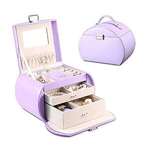 Best Epic Trends 41arCjRGzhL._SS300_ Vlando Princess Style Jewelry Box from Netherlands Design Team, Fabulous Girls Gift (Lavender)