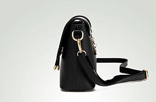 Messenger Primavera Voltear De black Y Pequeño Meaeo Nueva Simple Verano Bolso Bolso Bolso La Bag Moda Gules Ug707f5q