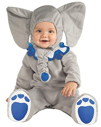 Rubie's Cuddly Jungle Eli-Fun Blue Elephant Romper Costume, Gray, 6-12 Months