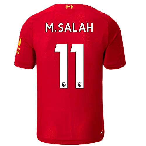 #11 Salah Liverpool Home Mens Soccer Jersey 2019-2020 Season Color Red Size M