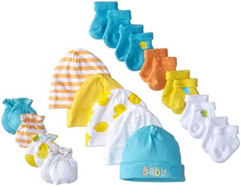 Gerber Unisex Baby 15 Piece Socks, Caps, and Mittens Essential Gift Set