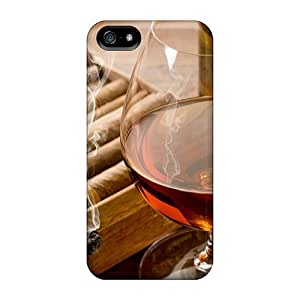 Awesome Design Cigar Smoke And Cognac Hard Case Cover For Iphone 5/5s by runtopwell