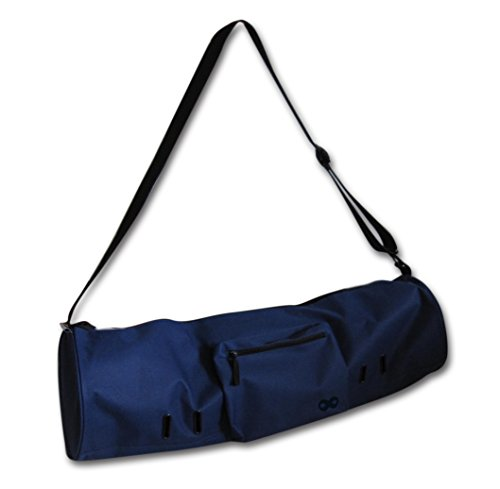 YogaAddict Yoga Mat Bag 'Compact' With Pocket, 28″ Long, Fit Most Mat Size, Extra Wide, Easy Access – Navy Blue Review