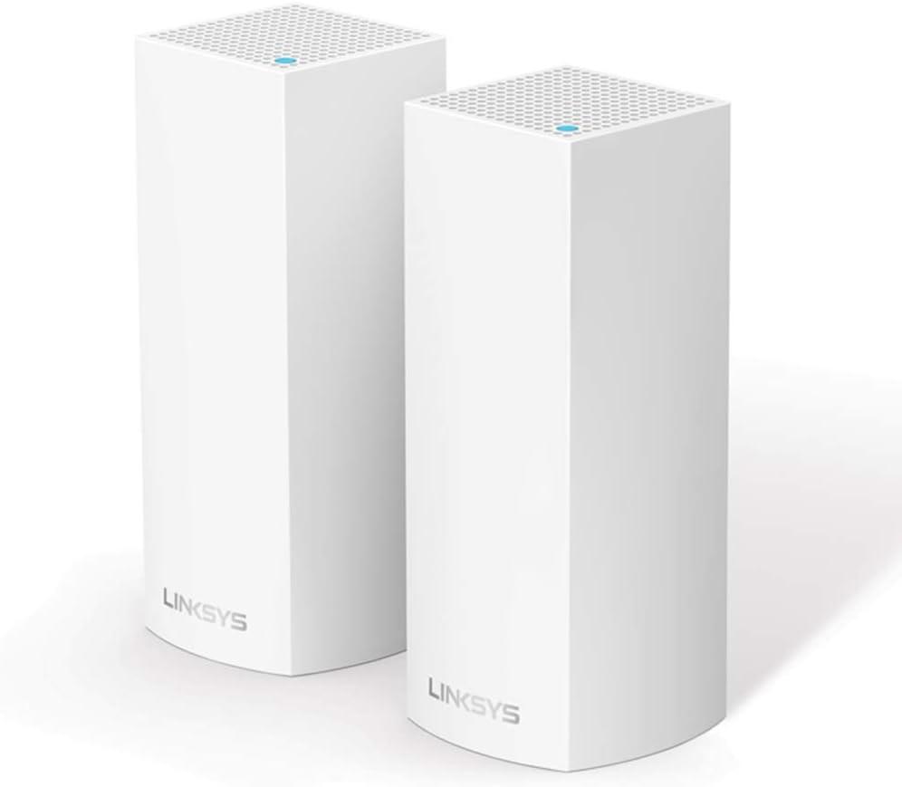 Linksys Whw0302-Eu Velop Multiroom Intelligent Mesh Wi-Fi-Systeem, Tri-Band, 4.4 Gbps, Wit, 2 Stuk