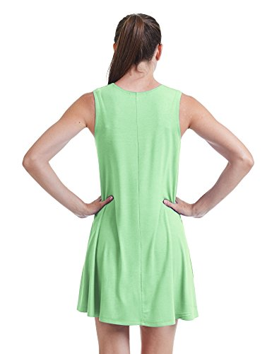 Se Réunissent En Californie Ctc Femmes Rondes Robe Trapèze Sans Manches Cou - Made In Usa Wdr929_mint