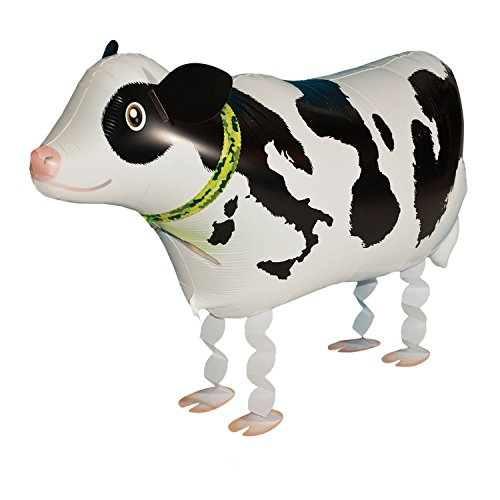 VOULOIR Cow Balloon Walking Animal Balloons Mylar Foil Balloon Birthday Meeting BBQ Party Decoration]()