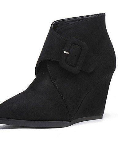Cachemira Moda us8 us6 A zapatos Uk4 Negro gris Xzz De Oklop casual cn39 Gray Black Mujer uk6 Cuña Eu36 La cn39 Gray Exterior uk6 botas Puntiagudos Tacón eu39 eu39 us8 Cn36 Botas 8xfnvwf6