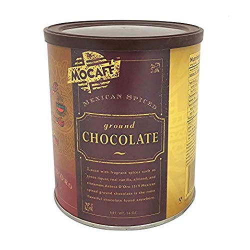 Mocafe Azteca D'oro 1519 Mexican Spiced Cocoa (ground chocolate), 14 oz can.