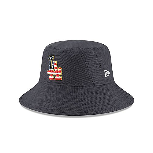 New Era Los Angeles Dodgers 2018 Stars & Stripes 4th of July Bucket Hat - Navy