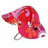 Nozone Better Baby Girl Flap Sun Hat in Brandie Print, 2T-4T