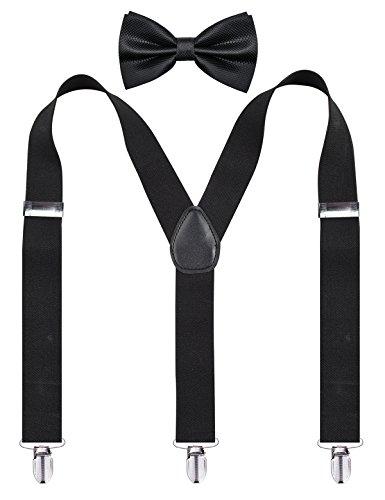 Alizeal 남자 Y-Back 가변 Suspender 및 Bowtie 세트/Alizeal..