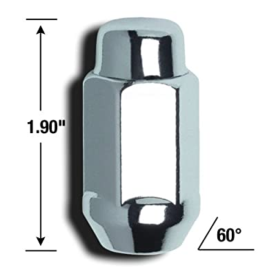 Gorilla Automotive 41188XL Acorn Bulge Extra Long - 1/2-Inch Thread Size - Box of 60: Automotive