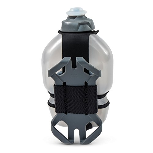 Flask Gel Holder (FuelBelt Tech Fuel Hand-Held Running Water Bottle with Smartphone Holder, 10 oz)