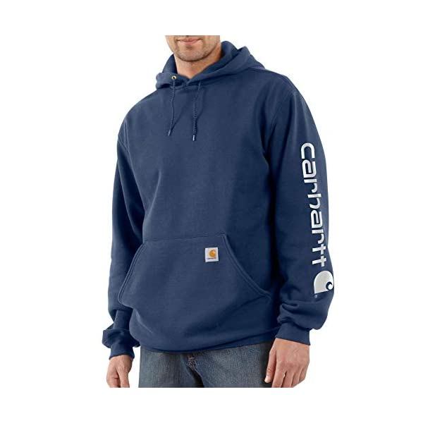 Fashion Shopping Carhartt Men's Midweight Sleeve Logo Hooded Sweatshirt (Regular and Big &