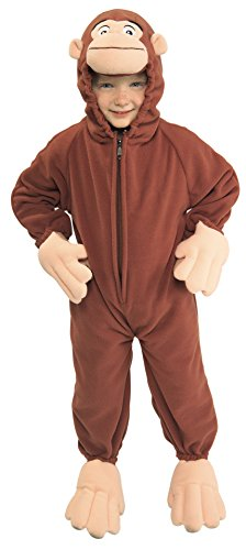 [Rubies Kid's Costume Curious George Fleece Child's Costume, Multi, Toddler] (Costumes Curious George)