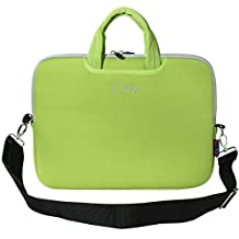 """iColor Green 9.7"""" 10"""" 10.1"""" 10.2"""" iPad/ Tablet / Laptop Neoprene Carrying Case Sleeve Briefcase Pouch Handle Bag Tote for iPad Air, Kindle Fire HD 10, Dell Venue 10 Pro, Toshiba Encore 2, PolaTab Q10.1, Dell Inspiron Mini 10 (ISH10-Green)"""