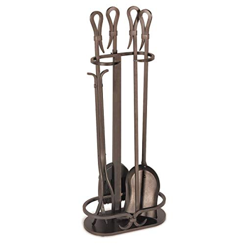 "Pilgrim Home and Hearth 18047 Iron Gate Tool Set, 28"" H, 18 Lb Burnished Bronze"