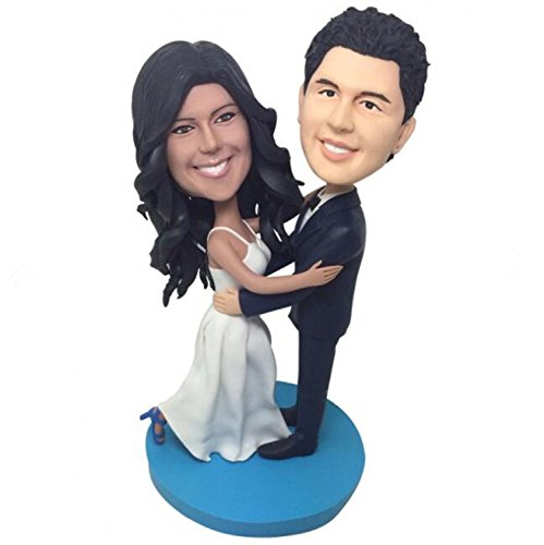 Custom Dance Wedding Bobblehead Polymer Clay Bobbleheads Cake Toppers by MiniBobbleheads