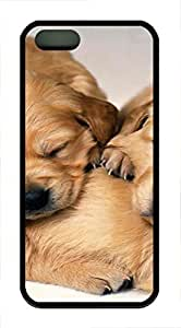iPhone 5 5S Case Pet Puppies TPU Custom iPhone 5 5S Case Cover Black