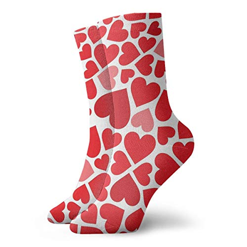 Heart Puzzle Crew Socks Casual Socks Funny For Sports Boot Hiking Running Etc.