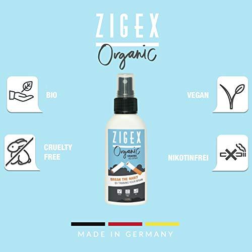 Spray para dejar de fumar | ZigEx 100ml | Es fácil dejar de fumar | Spray antiestrés 100% natural | Ayuda a entrenar su cerebro contra la adicción: ...