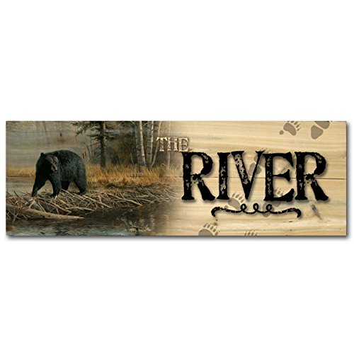 WGI-GALLERY 124 The River No Trespassing Wooden Wall Art
