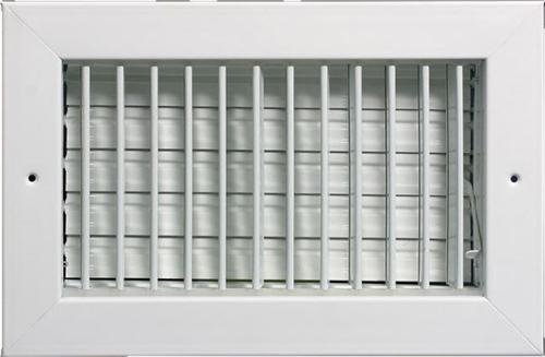 16'' x 8'' (Duct Opening Size) Adjustable , White Sidewall Supply HVAC Grille / Register