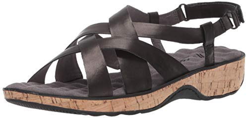SoftWalk Women's Bonaire Sandal, Black, 7.0 W US from SoftWalk
