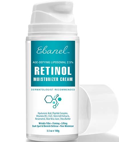 Retinol Cream 2.5% - 3.5 Oz, Anti Aging Face Cream with Hyaluronic Acid, Peptides, Vitamin C, E, B5, Aloe Vera, Shea Butter, Retinol Face Moisturizer Night Cream Anti Aging Cream Anti Wrinkle Cream (Best Eye Cream With Retin A)