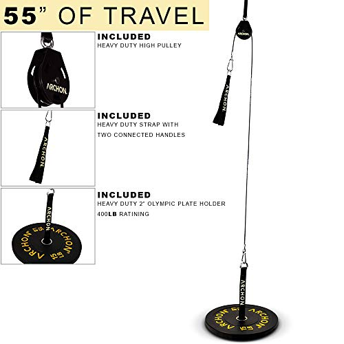 ARCHON Fitness Single Pulley Cable Station Options (B: Single Pulley 55'') by ARCHON (Image #1)