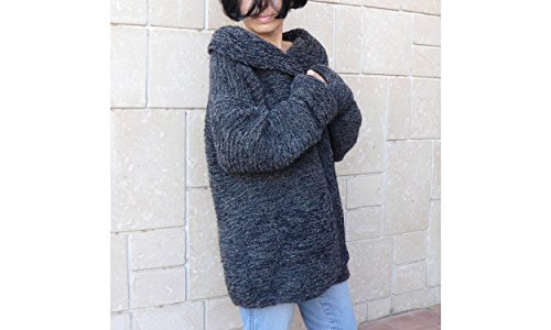 Women bulky cozy coat cardigan & pockets by PassionMK