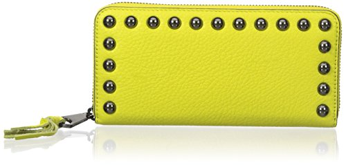 Rebecca Minkoff Ava Zip With Studs Wallet, Limeade, One Size by Rebecca Minkoff