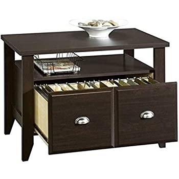 Amazon Com Bowery Hill Lateral Wood File Cabinet With