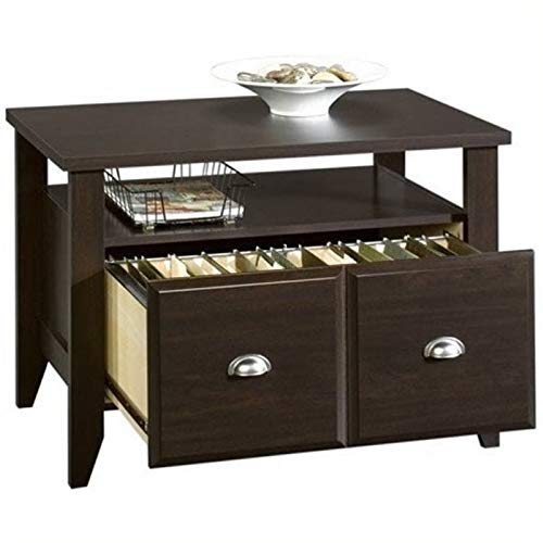 Bowery Hill Lateral Wood File Cabinet with Open Storage Shelf in Jamocha Brown