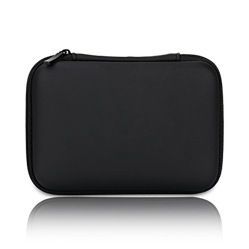 Hard Drive Case 2.5 inch, Cable Organizer Electronics Accessories HDD Storage Bag Travel Gear Kit, Small EVA Carry Case for External Portable Hard Drive, USB Charger, Earphone Cables and Others