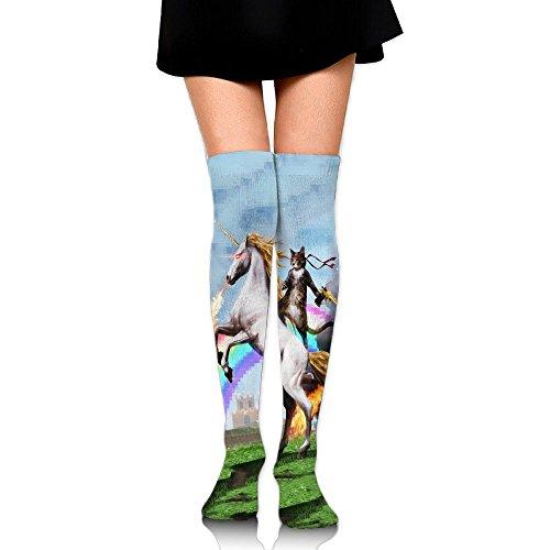 長椅子ヘッジブラウザ騎士猫 ストッキング サイハイソックス 3D デザイン 女性男性 秋と冬 フリーサイズ 美脚 かわいいデザイン 靴下 足元パイル ハイソックス メンズ レディース ブラック