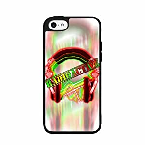 Cute painting Radioactive Colorful Headphones - Plastic Phone Case Back Cover (iPhone 5 5s) BY EPPOR