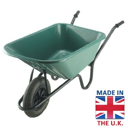 The Bristol Tool Company Super Mucker Plasttic Garden/Stable Wheelbarrow with Pneumatic Wheel - 120ltr/150kg WAL-BIGM