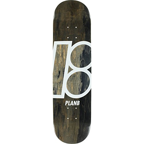 Plan B Stained Skateboard Deck -7.75 Black DECK ONLY - (Bundled with FREE 1'' Hardware Set)