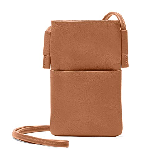 Leatherology Long Crossbody Phone Pocket - Full Grain Leather Leather - Cognac ()