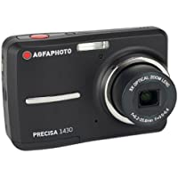 AGFAPHOTO Precisa 1430 1430BK 14.1 MP Digital Camera with 3x Optical Zoom 2.4-Inch Auto Brightness LCD (Black)