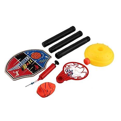 Kindersport - Juego de baloncesto portátil con pelota y bomba ...