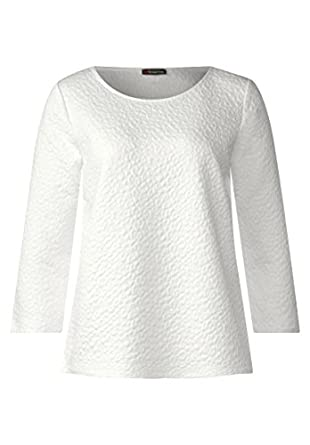 Street One Damen Sweatshirt mit Jacquard Design 300621 10108
