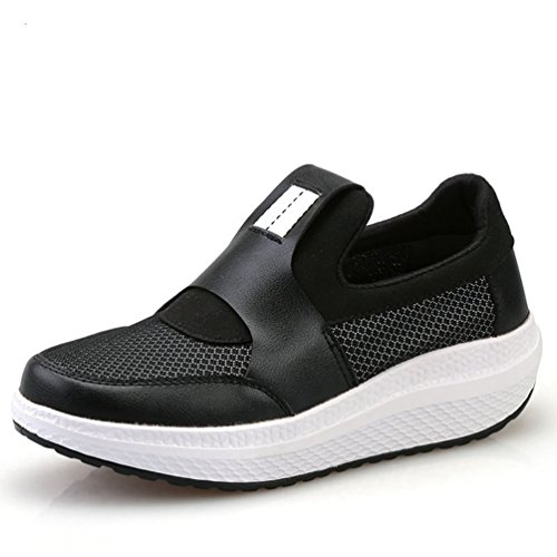 JITIAN - Zapatillas de Running de Material Sintético Mujer Negro