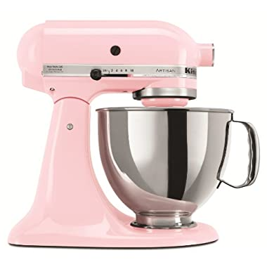 KitchenAid KSM150PSPK Artisan Series 5-Qt. Stand Mixer with Pouring Shield - Pink