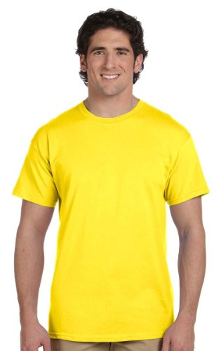 Fruit of the Loom Heavyweight Short Sleeve T-Shirt - YELLOW - Large